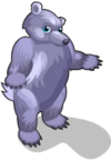 Purple polar bear an