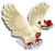 Goal chocolate dove icon
