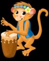 Drum circle monkey single