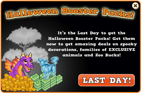 Halloween booster packs last modal