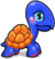 Cubby Turtle Blue single