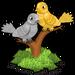 Silver & gold doves single