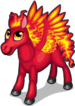 Flame pegasus single