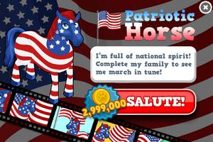 Patriotic horse animators modal