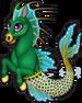 Sinbad seahorse single