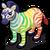 Rainbow Zebra single