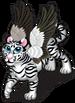 Winged white tiger single