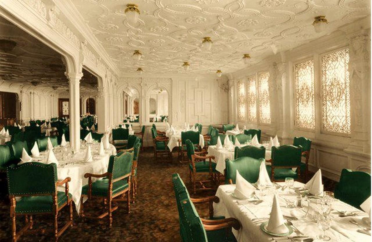 First Class Dining Saloon. First Class Dining Saloon   Titanic Wiki   FANDOM powered by Wikia
