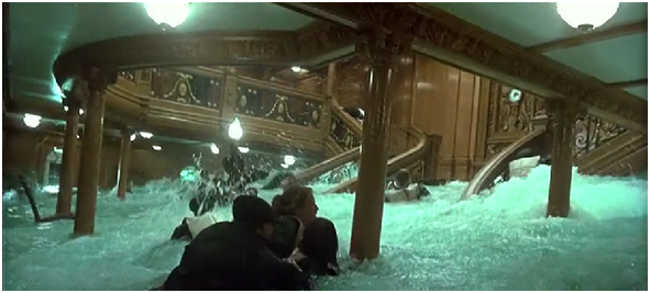 Image escalier pont a wiki titanic for Titanic epave interieur