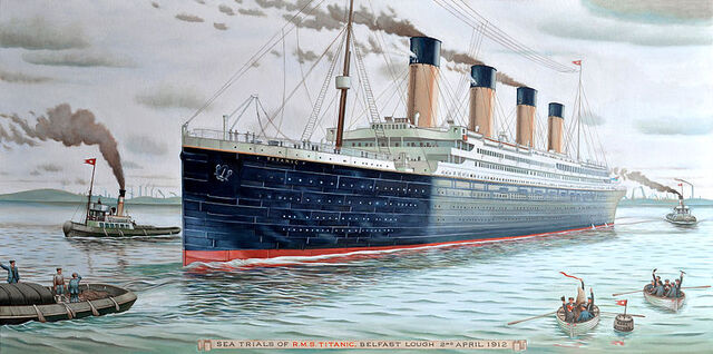 File:Sea Trials of RMS Titanic, 2nd of April 1912.jpg