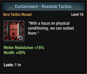 Containment - Resolute Tactics