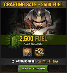 Tlsdz crafting sale - 2500 fuel