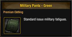Military Pants - Green