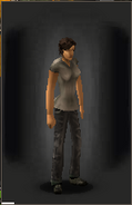 Military Pants - Black equipped female