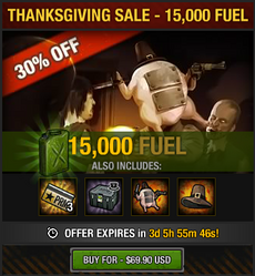 Thanksgiving Sale 2016 - 15000 fuel