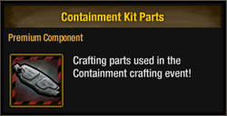 Containment Kit Parts