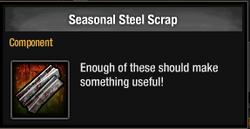 Tlsdz seasonal steel scrap