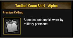 Tactical Camo Shirt - Alpine