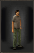 Military Pants - Green equipped male