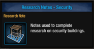 Research note security