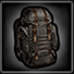 Crafted backpack icon