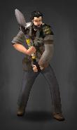 TLSDZ survivor with shovel