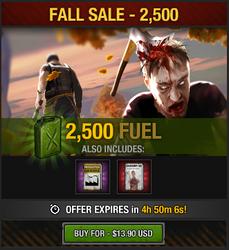 Tlsdz fall sale 2500 fuel