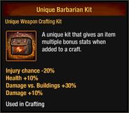 Unique Barbarian Kit