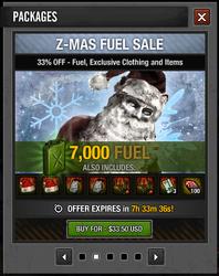 Tlsdz Z-Mas Fuel Sale 7000