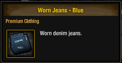 Worn Jeans - Blue