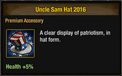 Uncle Sam Hat 2016
