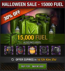 Halloween 2016 Fuel Sale - 15000