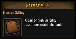 Hazmat pants