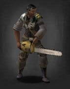 Survivor wielding the Chainsaw