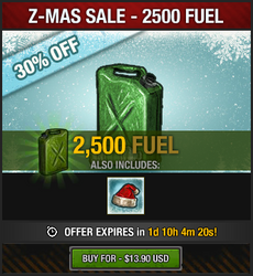 Z-Mas Sale 2016 - 2500 fuel