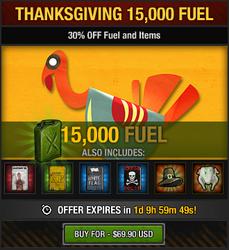 Tlsdz thanksgiving 15000 fuel package 2014