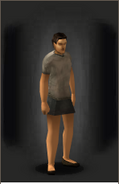 Skirt equipped male