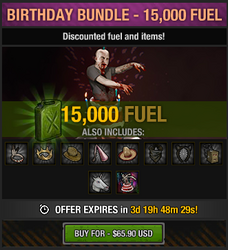 4th anniversary birthday bundle - 15000 fuel