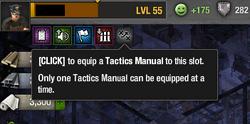Tactics Manual slot