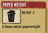 Tlsuc paper weight