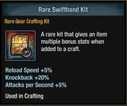 Tlsdz crafting kit - rare swifthand kit