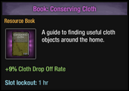 Conserving cloth