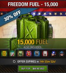 Tlsdz freedom fuel 15000 fuel package