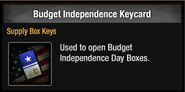 Budget independence keycard
