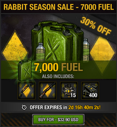 Rabbit Season Sale - 7000 fuel