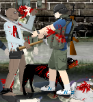 Zombie vs katana