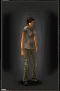 Military Pants - Khaki equipped female