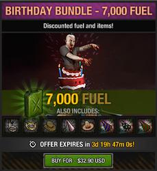 4th anniversary birthday bundle - 7000 fuel