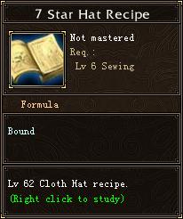 7 Star Hat Recipe