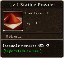 Lv 1 Statice Powder